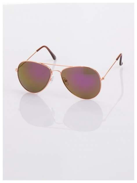 Fioletowe okulary przeciwsłoneczne pilotki AVIATORY