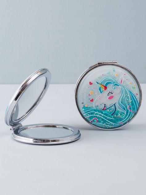 Fioletowe podwójne lusterko okrągłe