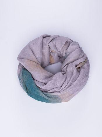 Fioletowo-brązowa chusta z efektem ombre                                  zdj.                                  1