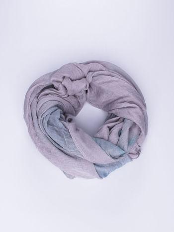 Fioletowo-granatowa chusta z efektem ombre                                  zdj.                                  1