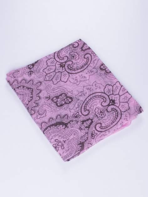 Fioletowy orientalny szal we wzór paisley                                  zdj.                                  2