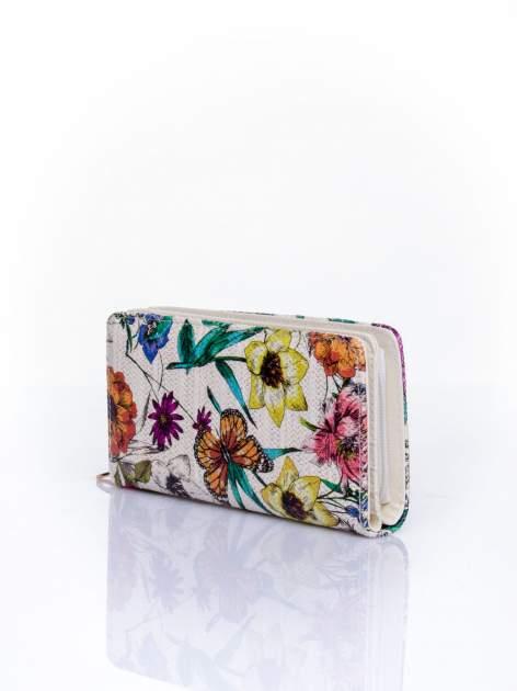 Fioletowy portfel z egzotycznym nadrukiem                                  zdj.                                  3