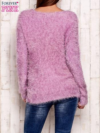 Fioletowy sweter z długim włosem                                  zdj.                                  4