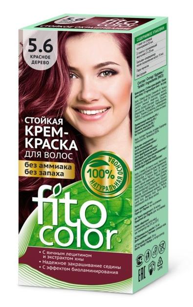Fitocosmetics Fitocolor Naturalna Farba-krem do włosów nr 5.6 drzewo czerwone