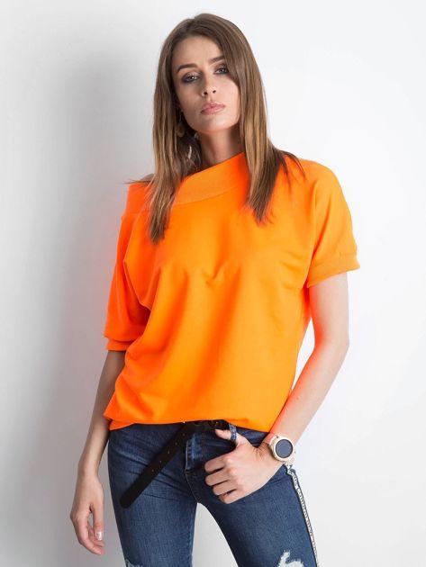 Fluo pomarańczowa bluzka Lemontree