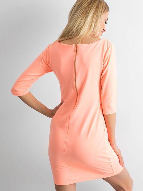 Fluo pomarańczowa sukienka z bawełny                              zdj.                              2