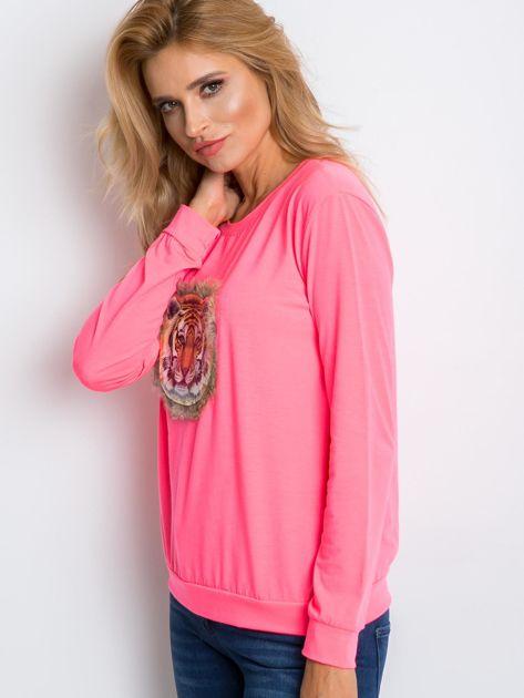 Fluo różowa bluza Palma                              zdj.                              3