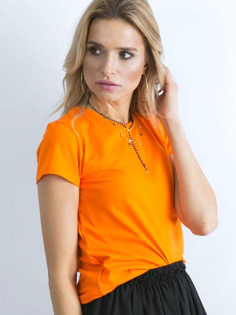 Fluopomarańczowy t-shirt Peachy                              zdj.                              3
