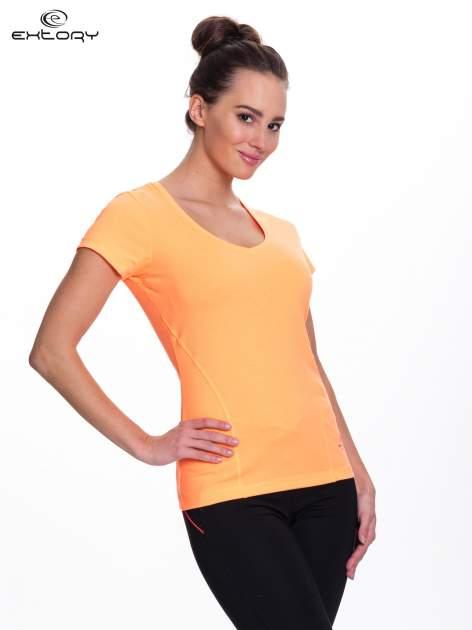 Fluopomarańczowy t-shirt sportowy PLUS SIZE                                  zdj.                                  3