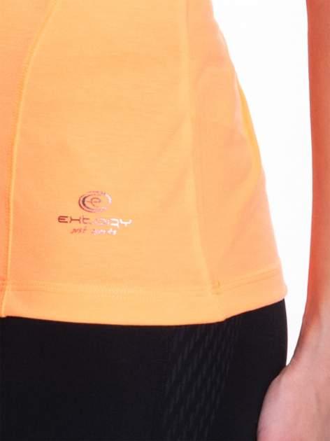 Fluopomarańczowy t-shirt sportowy PLUS SIZE                                  zdj.                                  5