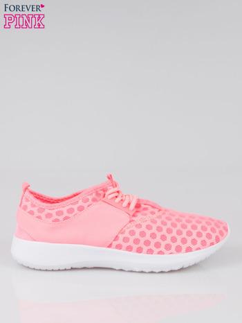 Fluoróżowe buty sportowe textile Drive Me Crazy z siateczki na podeszwie flex                                  zdj.                                  1
