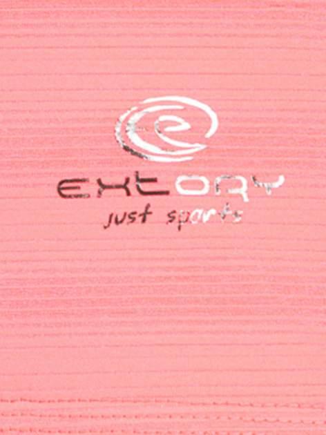 Fluoróżowy damski t-shirt sportowy w paski                                  zdj.                                  4