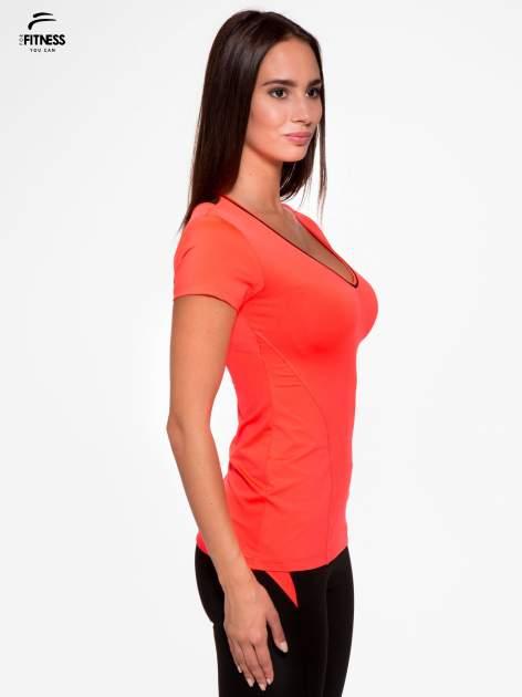 Fluoróżowy termoaktywny t-shirt sportowy z siateczką przy dekolcie i z tyłu ♦ Performance RUN                                  zdj.                                  3
