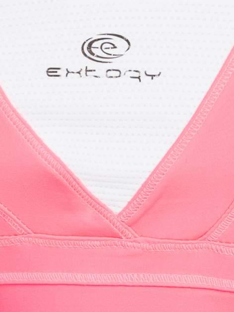 Fluoróżowy top sportowy z krzyżowanymi ramiączkami na plecach                                  zdj.                                  4