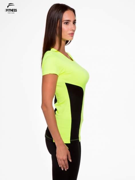 Fluozielony termoaktywny t-shirt sportowy z siateczkowymi modułami ♦ Performance RUN                                  zdj.                                  3