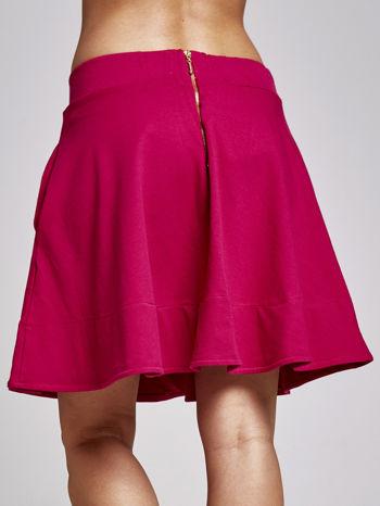 Fuksjowa spódnica dresowa skater                                  zdj.                                  4