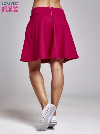Fuksjowa spódnica dresowa skater                                  zdj.                                  5