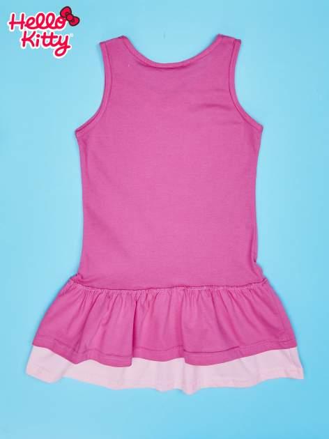 Fuksjowa sukienka dla dziewczynki z kokardką HELLO KITTY                                  zdj.                                  2