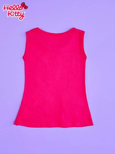 Fuksjowa sukienka dla dziewczynki z kokardkami HELLO KITTY                                  zdj.                                  2