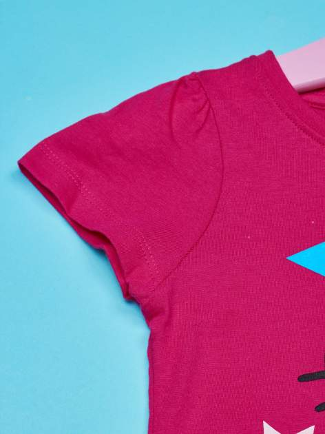 Fuksjowa tunika dla dziewczynki z motywem HELLO KITTY                                  zdj.                                  3