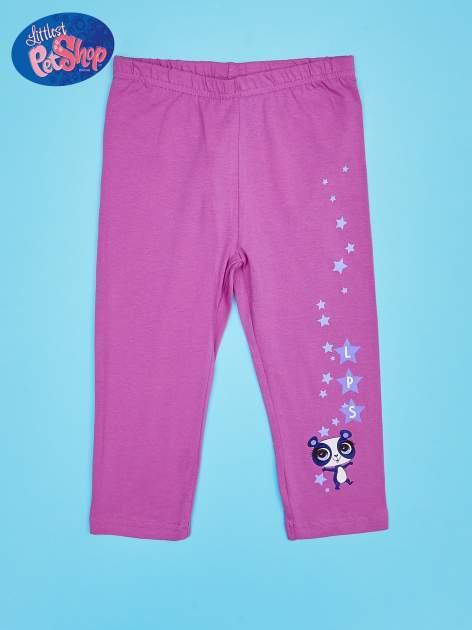 Fuksjowe legginsy dla dziewczynki LITTLEST PET SHOP
