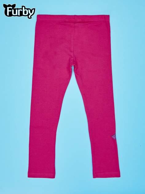 Fuksjowe legginsy dla dziewczynki nadruk FURBY                                  zdj.                                  2