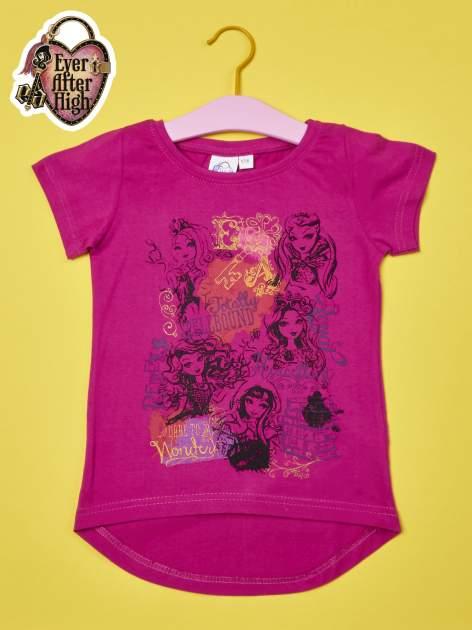 Fuksjowy t-shirt dla dziewczynki EVER AFTER HIGH                                  zdj.                                  1