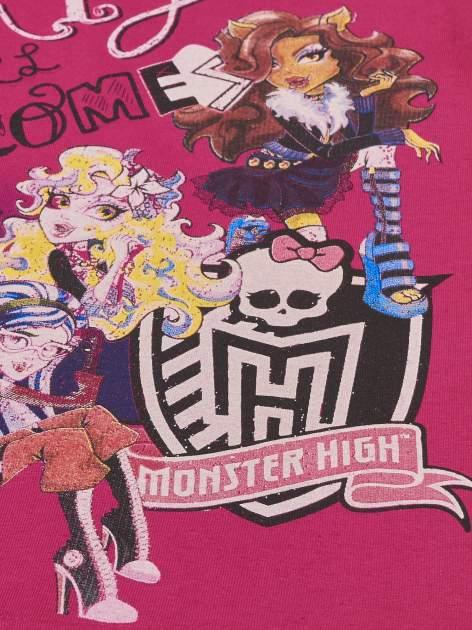 Fuksjowy t-shirt dla dziewczynki MONSTER HIGH                                  zdj.                                  4
