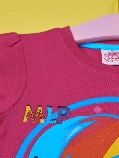 Fuksjowy t-shirt dla dziewczynki  motywem bajki MY LITTLE PONY                                   zdj.                                  3