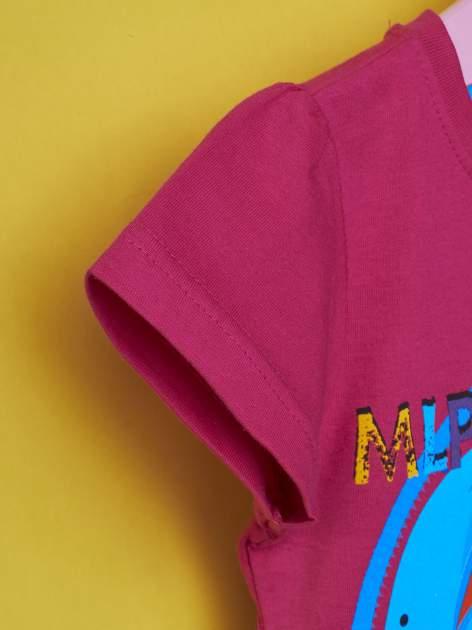 Fuksjowy t-shirt dla dziewczynki  motywem bajki MY LITTLE PONY                                   zdj.                                  6