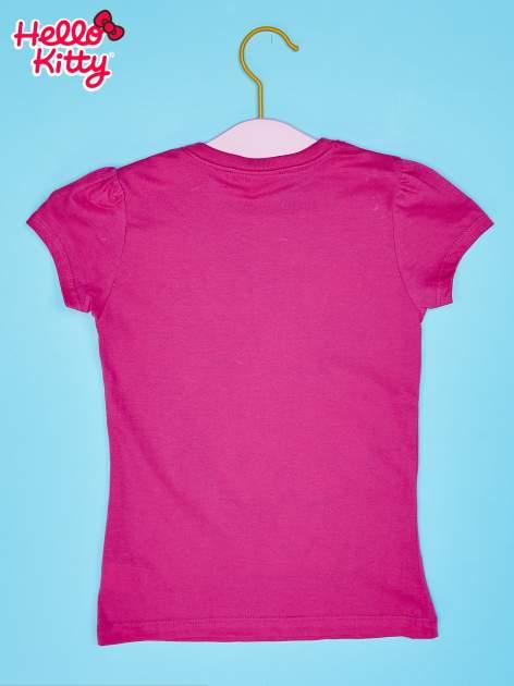 Fuksjowy t-shirt dla dziewczynki nadruk HELLO KITTY                                  zdj.                                  2