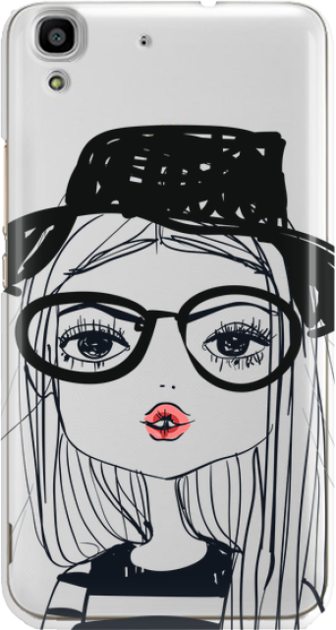 Funny Case ETUI HUAWEI Y6 GIRL WITH PINK LIPS