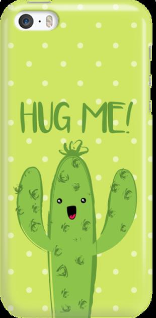 Funny Case ETUI IPHONE 5G CACTUS HUG ME