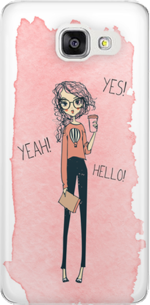 Funny Case ETUI SAMSUNG A5 2016 YES, YEAH, HELLO