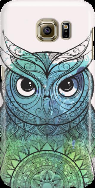 Funny Case ETUI SAMSUNG S6 OWL