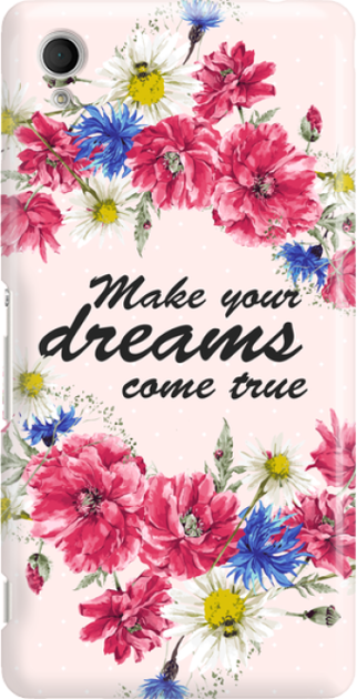 Funny Case ETUI SONY XPERIA M4 AQUA DREAMS FLOWERS