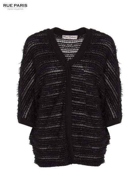 Futrzany sweter nietoperz przeplatany błyszczącą nicią                                  zdj.                                  1