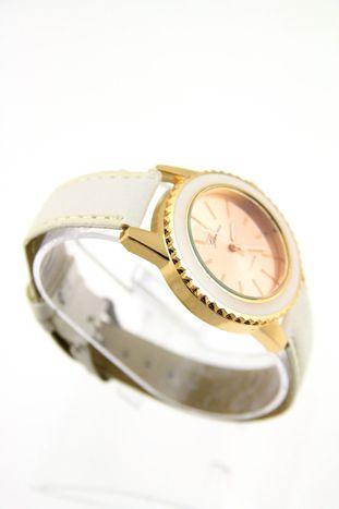 GENEVA Biały zegarek damski na skórzanym pasku                                  zdj.                                  2