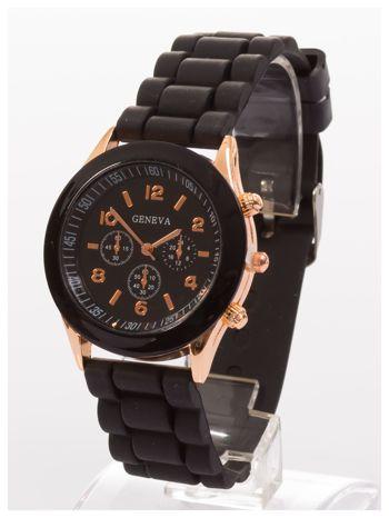 GENEVA Czarny zegarek damski na silikonowym pasku                                  zdj.                                  2