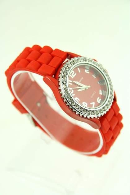 GENEVA Czerwony zegarek damski na silikonowym pasku                                  zdj.                                  2