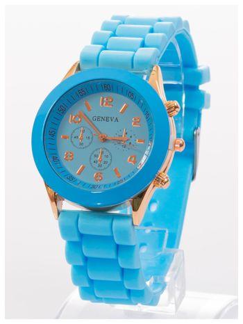 GENEVA Niebieski zegarek damski na silikonowym pasku                                  zdj.                                  2