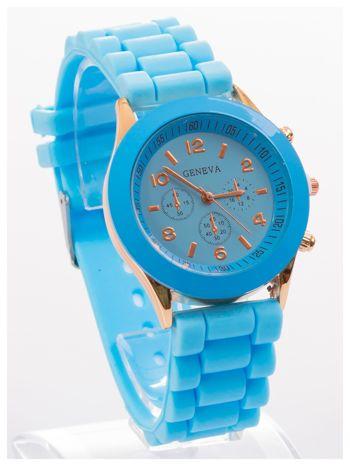 GENEVA Niebieski zegarek damski na silikonowym pasku                                  zdj.                                  3