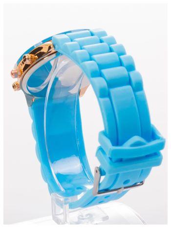 GENEVA Niebieski zegarek damski na silikonowym pasku                                  zdj.                                  4