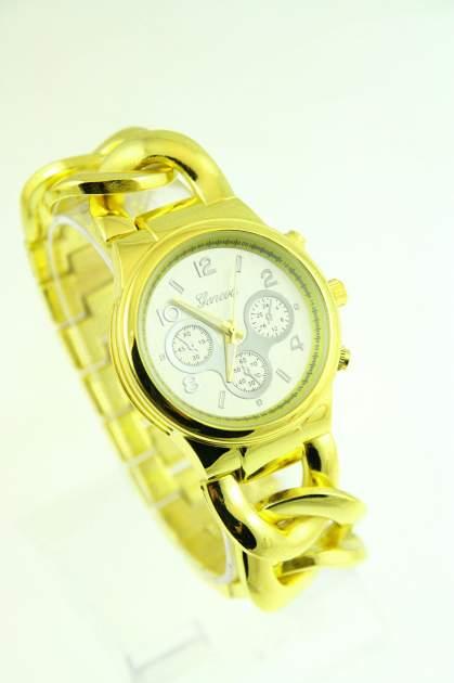 GENEVA Złoto-srebrny zegarek damski na bransolecie
