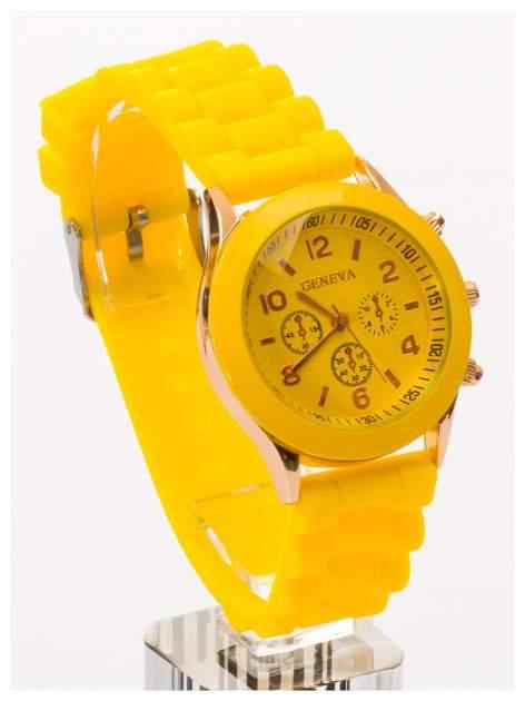 GENEVA Żółty zegarek damski na silikonowym pasku                                  zdj.                                  2