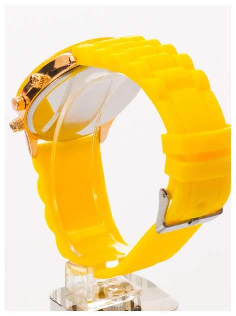 GENEVA Żółty zegarek damski na silikonowym pasku                                  zdj.                                  4