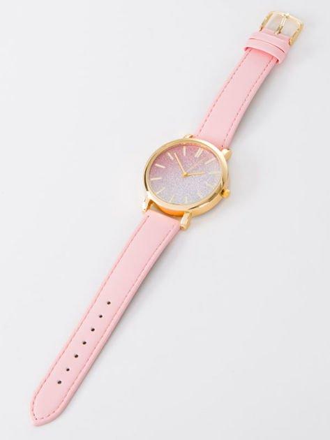 GLITTER OMBRE jasnoróżowy zegarek damski                              zdj.                              3