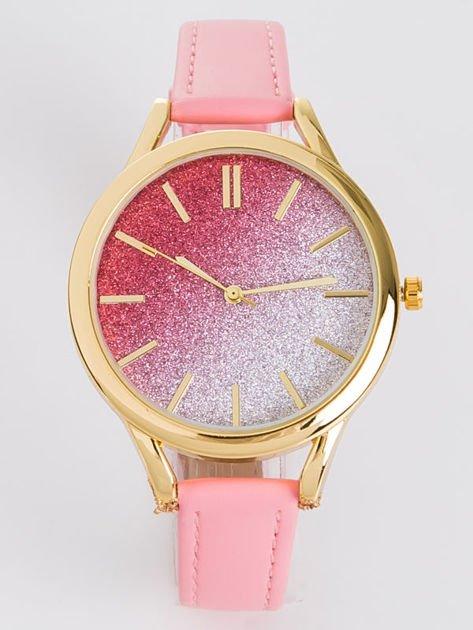 GLITTER OMBRE różowy zegarek damski                              zdj.                              2