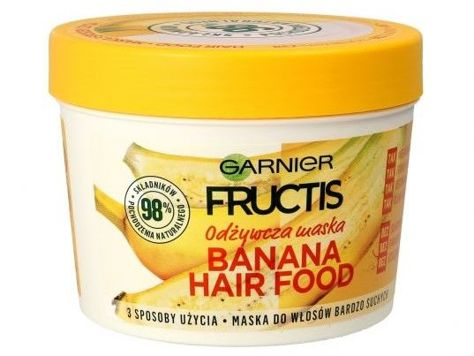 Garnier Fructis Maska do włosów odżywcza Banana Hair Food  390 ml