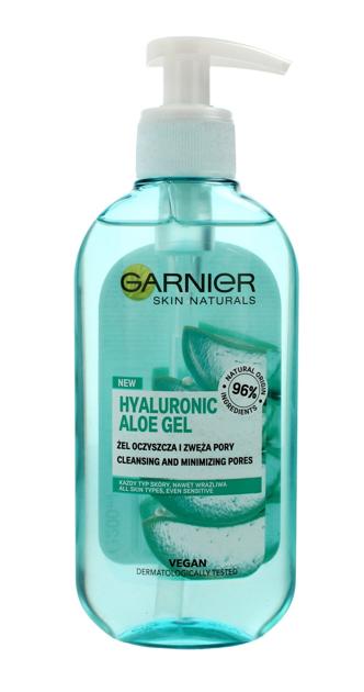 """Garnier Skin Naturals Hyaluronic Aloe Żel oczyszczający i zwężający pory - cera każdego rodzaju 200ml"""""""